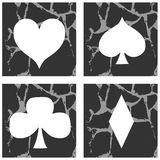 Artistic playing cards seeds isolated on background Stock Photo