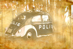 Artistic police car Stock Images