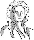 Artistic portrait of Antonio Vivaldi isolated Stock Image