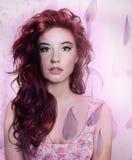 Artistic portrait of brunette beauty. Stock Photos
