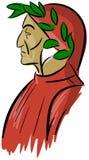 Artistic portrait of Dante Alighieri isolated Stock Images