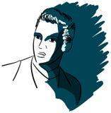 Artistic portrait of Elvis Presley isolated Stock Photo