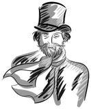 Artistic portrait of Giuseppe Verdi  Stock Image