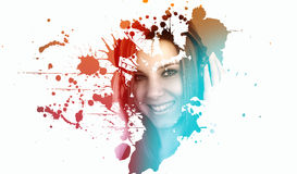 Artistic portrait of a young woman Royalty Free Stock Photo