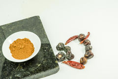 Artistic Presentation of Spices Stock Image