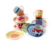 Artistic print cups still life stock photography