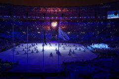 Artistic program during Rio2016 closing ceremonies. Artistic program during Rio2016 Summer Olympics closing ceremonies at Maracana stadium in Rio de Janeiro Stock Images