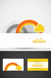 Artistic rainbow and cloud. Artistic rainbows and cloud graphic design Royalty Free Stock Image