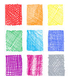 Artistic rectangled patterns Royalty Free Stock Photos