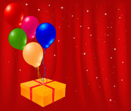 Artistic red background. With balloons Royalty Free Illustration