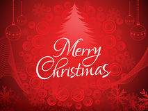 Artistic red christmas background. Vector illustration Stock Photos