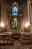 Artistic religious details inside Monreale cathedral near Palermo, Sicily Royalty Free Stock Image