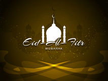 Artistic religious Eid Al Fitr mubarak card design. Royalty Free Stock Photos