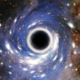 Artistic Representation of a cosmic Black Hole. Elements furnished by NASA Stock Photography