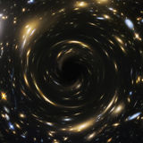 Artistic Representation of a cosmic Black Hole. Elements furnished by NASA Stock Photo