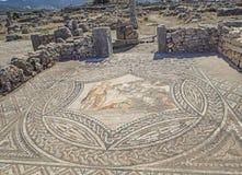 Artistic Roman Mosaics in Volubilis, Morocco stock photo
