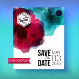 Artistic romantic Save The Date wedding template Stock Photos