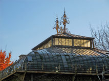 Artistic roof of greenhouse in a botanical garden Royalty Free Stock Photography