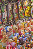 Artistic Russian Souvenirs--Nesting Wooden Dolls Stock Images