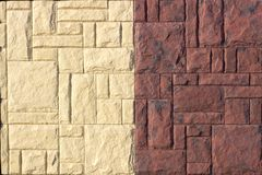 Artistic sandstone wall texture background patterns Stock Image