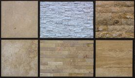 Artistic sandstone wall texture background patterns Stock Images