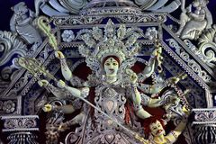 The artistic Sculpture of Hindu goddess Durga. Durga puja the biggest Hindu festival of India. the traditional sculpture design of stock photography