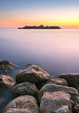 Artistic sea landscape at sunset time,  Montenegro. Artistic sea landscape at sunset time, Budva Montenegro Stock Image