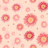 Artistic seamless pattern. With watercolor flowers Stock Images