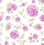 Artistic seamless pattern. With watercolor flowers Royalty Free Stock Image