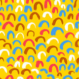Artistic seamless pattern with abstract simply elements. Stock Photography