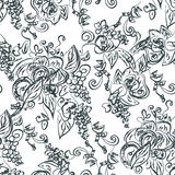 Artistic seamless pattern with grape Royalty Free Stock Photo
