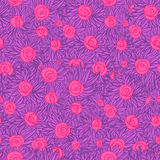 Artistic Seamless pattern with painted flowers (roses), floral i Royalty Free Stock Images