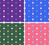 Artistic seamless pattern with squares on lines Stock Images