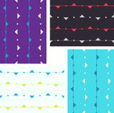 Artistic seamless pattern with triangles on lines Royalty Free Stock Photography