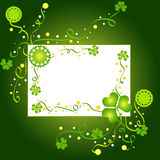 Artistic shamrock frame Royalty Free Stock Images