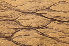 Artistic shapes in the sand Stock Image