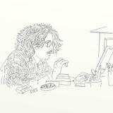 Artistic silkscreen Johnny Depp  Stock Photo