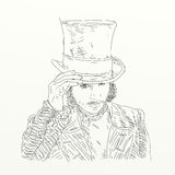 Artistic silkscreen Johnny Depp Royalty Free Stock Images