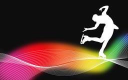 Artistic skating poster. An d silhouette stock illustration