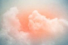 Artistic sky and cloud with gradient color and grunge texture. Artistic sky and cloud with gradient color and grunge paper texture Stock Image