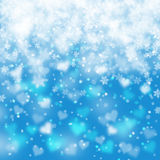 Artistic snowflake heart background Royalty Free Stock Photo