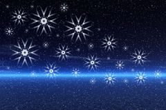 Artistic snowflakes Stock Image