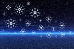 Artistic snowflakes Stock Image