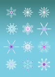 Artistic snowflakes Stock Photos