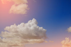 Artistic soft cloud and sky with gradient color Stock Image