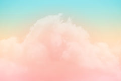 Artistic soft cloud and sky with pastel color Royalty Free Stock Image