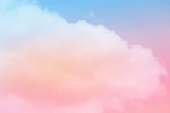 Artistic soft cloud and sky with pastel color Stock Photo