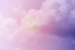 Artistic soft cloud and sky with pastel color Royalty Free Stock Photo
