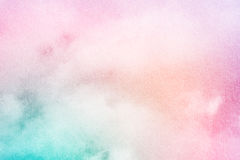 Artistic soft cloud and sky with pastel color and grunge texture Stock Photography