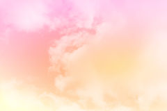 Artistic soft cloud and sky with pastel color Royalty Free Stock Images
